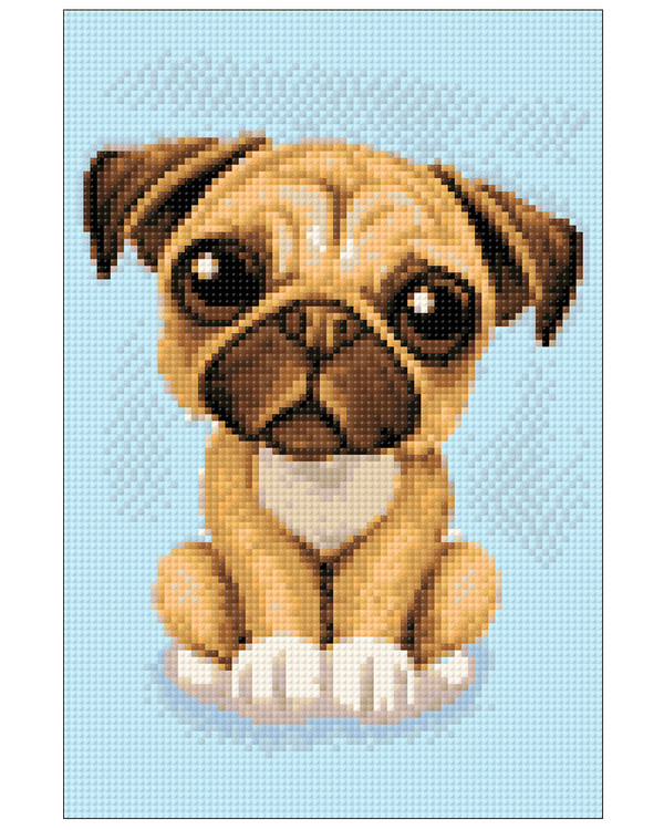 Diamond painting Puppy eyes